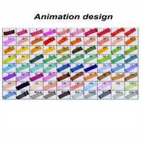 TouchFive 80 colores set rotulador pluma Punta doble negro para diseño de animación