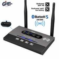 De largo alcance BYPASS NFC de adaptador de Audio de 328ft Bluetooth 5,0 transmisor receptor tecnología APTX HD y baja latencia óptico RCA de 3,5mm AUX para TV