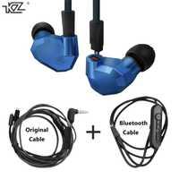 Cable KZ ZS5 auriculares + bluetooth cable cables desmontables de alta fidelidad auriculares híbrido bajo para los teléfonos inteligentes de música deporte