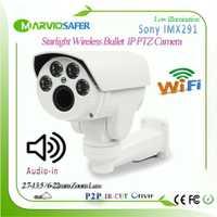 5X Zoom PTZ de Audio WIfi 1080 P IMX291 Starlight IP PTZ cámara de red IP Wi-fi 1080 P 2,7 -13,5 motorizado de la lente onvif RTSP