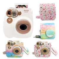 Fujifilm Instax Mini 7C Cámara foto instantánea de película de impresión instantánea cámara de tiroteo con correa de hombro bolsa funda protectora