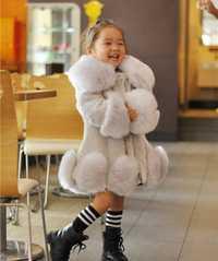 Nouveau 2018 bébé filles à manches longues hiver mariage fausse fourrure marque manteau de fourrure pour filles formel doux fête manteau enfants mariage Outwear
