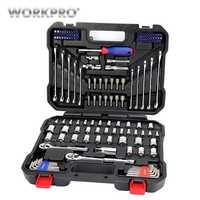 WORKPRO 145 Unid conjunto de herramientas para la reparación de automóviles de trinquete de 1/4