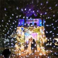 Navidad Snowflake láser proyector al aire libre impermeable LED Moving nieve jardín césped lámpara decoraciones para el hogar