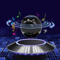 De moda flotante magnético Altavoz Bluetooth magia suspensión magnética en forma de bola de altavoz platillo volador Base de Subwoofer