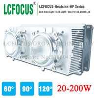 LED del disipador de calor del radiador + 60 90 120 grados Len + Reflectores soporte + Ventiladores para alta potencia 20 W 30 W 50 W 100 W 200 W LED Sistema de refrigeración