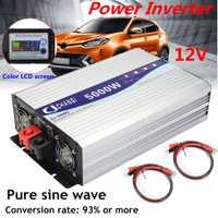 Intelligent Écran Onduleur À Onde Sinusoïdale Pure 12 V/24 V À 220V 3000 W/4000 W/5000 W/6000 W Convertisseur