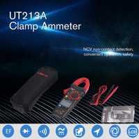 UNI-T UT213A AC/DC 400A 4000 cuenta medidor pinza Digital amperímetro Digital resistencia/condensador/frecuencia/diodo prueba NCV