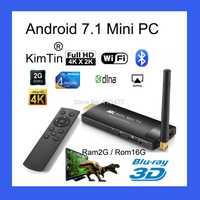 MK903V 2G 8g Android 7,1 TV Stick RK3288 Quad Core 2,4/5G Wifi HDMI TV Dongle ¡soporte 4 K H.264 H.265 BDMV ISO MKV reproductor de medios