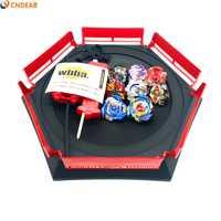 Spin top explosión juguetes con lanzador de arranque y Arena de juguete Metal fusión Dios Spinning Top Blade juguetes Arena001