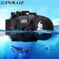 PULUZ 40 m 1560 pulgadas 130ft profundidad subacuática natación buceo funda impermeable Cámara bolsa carcasa para Sony A6300