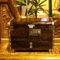 Tooarts alta calidad Phoebe Cofre del Tesoro caja de joyería ébano joyería espejo vestidor gabinete muebles de madera y ornamento