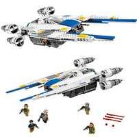 El modelo Rebel U Wing Fighter Jets 679 piezas bloques de unids construcción juguetes niños regalos compatibles Legoings Series Star Wars 75155