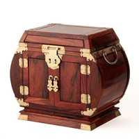 Rosewood rosewood caja de joyas de madera caja de joyería de madera de la boda de Lisa pecho espejo de bloqueo