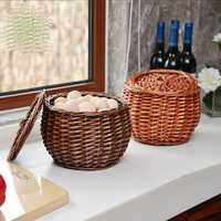 De mimbre cesta de compras de huevo y cesta de la cesta de fruta