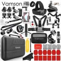 Juego de accesorios para cámara de acción DJI OSMO para Gopro Hero 7 negro/6/5/4 para funda de transporte impermeable xiaomi yi 4 k VS87