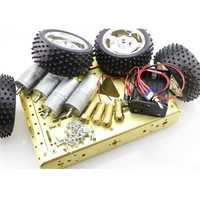 Elecrow de alta calidad Robot inteligente Predator 4WD metálico plataforma móvil DIY Kits de coche automático electrónico DIY Kit
