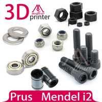 Mendel i2 3D impresora hardware dedicado kit reprap pernos tuercas arandela + conjuntos de rodamientos-(608zz + lm8uu lineal rodamientos)