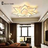 Nuevo blanco acabado moderno Led lámparas para sala de estar dormitorio comedor lámpara de Led de iluminación