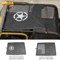 Bâche de voiture BAWA pour Jeep Wrangler TJ 1997-2006 PVC pare-soleil toit haut maille résistant aux UV Protection accessoires pour Wrangler tj 4 porte