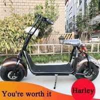 Citycoco Scooter Eléctrico Bicicleta Eléctrica 60 V 1000 W Súper Reciente Confiable Calidad de la Fábrica Venta Directa con Grasa neumáticos