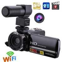 1080 pulgadas LCD pantalla táctil Cámara práctica videocámara P 24MP cámara Digital Zoom Control remoto infrarrojo visión nocturna cámara de vídeo