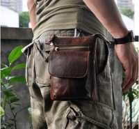 Para Alcatel A3 XL retro aceite cera Cuero auténtico 7 pulgadas universal de la cintura bolsa de teléfono para meizu M6 nota doogee S60