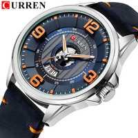Relojes para Hombre, reloj de pulsera de cuero CURREN de marca superior, reloj a prueba de agua para Hombre, Relojes de moda para Hombre