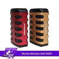 Original 200 W Skynow Microbox Mod caja de cigarrillos electrónicos Mod utiliza dos 18650 celdas de potencia/Ni/Ti/ SS/Bypass modo e-cigs vape