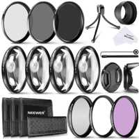Neewer 72mm Kit de filtro de lente de cámara: UV, CPL, FLD filtro + filtros ND (ND2, ND4, ND8) + filtros macro (+ 1 + 2 + 4 + 10) + mini trípode de mesa