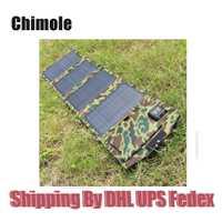 10 unids 14 W 5 V 18 V Cargador USB del Panel de Batería Solar Al Aire Libre Banco de la energía Solar Bolsa de Carga Para El Teléfono Moible Recorrido Que Acampa mochilas