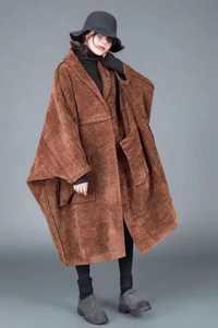 2018 nuevo otoño femenino y el invierno más tamaño lana abrigo moda berif flojo abrigo de lana