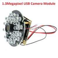 H1.3mp HD de la luz corta AR0130 CMOS 8mm visión nocturna ir USB Cámara módulo con 5 V infrarrojos IR junta iluminador para CCTV