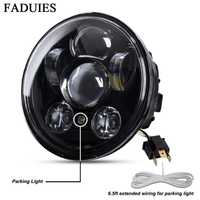 FADUIES Chrome 5.75 pouces LED phare 5 3/4 pouces LED phare pour Harley Iron 883 Dyna Street Bob FXDB Sportsters
