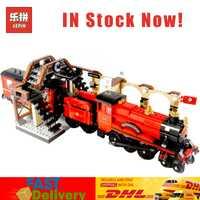 En Stock 2018 educativos 16055 Compatible con LegoINGlys 75955 Harry Magi Potter Hogwarts tren expreso bloques ladrillos edificio modelo de juguete