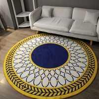 Alfombra geométrica moderna sala de estar de moda para alfombra de estudio para ordenador alfombra redonda