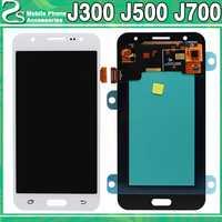 Nuevo J300 J500 J700 LCD pantalla táctil para Samsung Galaxy J3 J5 J7 2015 pantalla LCD Sensor táctil Panel de cristal digitalizador de montaje
