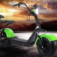 Bicicleta eléctrica para adultos Citycoco 1500 W 12A/20A litio con audio Bluetooth HD y asiento doble con manija LCD de neumático de 9,5 pulgadas