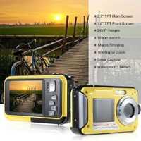 BEESCLOVER Digital resistente al agua Cámara de la cámara HD sumergible 24 MP grabadora de Video Selfie pantalla Dual DV Grabación de cámara r29