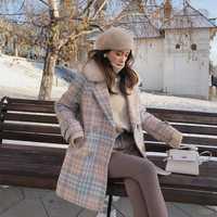 Mishow 2018 las nuevas mujeres prendas de vestir exteriores ropa de invierno moda cálida lana mezclas mujer elegante doble Breasted abrigo de lana MX18D9679