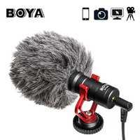 Micrófono de grabación de vídeo BOYA BY-MM1 Micro compacto VS Rode Video en cámara para iPhone 7X8 Huawei nikon Canon DSLR