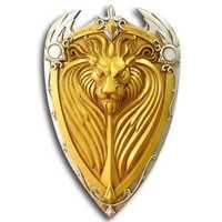 [Divertido 1:1 escala 61 cm de simulación, el rey Llane León Escudo de Armas modelo para niños adultos cosplay Juguetes colección regalo