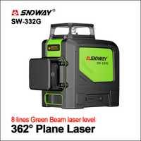 SNDWAY los niveles láser nivel láser 360 grado láser verde nivel 3D Rotary auto nivelación Horizontal Vertical 12 líneas láser nivelador