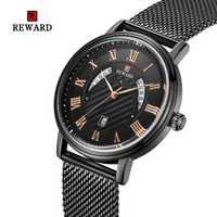 Relojes para hombre reloj minimalista elegante retro suave milanesa malla Correa oro negocios romano números negro reloj RD63063