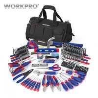 Conjunto de Unid herramientas de mano para PC WORKPRO 322 herramienta de reparación del hogar con bolsa de herramientas