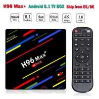 2018 caliente H96 Max + RK3328 4 GB 64 GB Android 8,1 TV Box Smart TV caja 2,4g/ 5G WiFi 4 K H.265 USB 3,0 HDR10 HD Media Player H96 Max