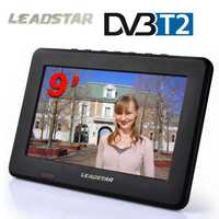 LEADSTAR TV HD Digital y TV analógica receptor LED TV coche TV soporte TF tarjeta USB Audio Video Play DVB-T2 AC3
