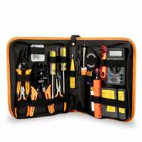 Juego de herramientas manuales 17 en 1, Kit de herramientas de reparación de Mantenimiento Electrónico, Kit de soldador eléctrico, juego de pinzas, juego de multímetro Digital