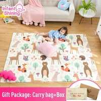 Tapis de jeu pour bébé brillant Xpe Puzzle tapis épaissi Tapete Infantil pour bébé tapis rampant tapis pliant tapis bébé