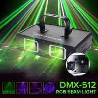 Claite DMX-512 LED etapa luz lámpara Disco láser iluminación con nosotros enchufe interior Decoración Para KTV Pub Fiesta Club DMX lumiere láser